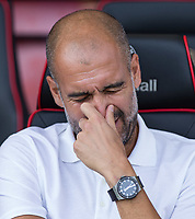 Manchester City Manager Josep Guardiola ahead of the Premier League match between Bournemouth and Man City at the Goldsands Stadium, Bournemouth, England on 26 August 2017. Photo by Andy Rowland.