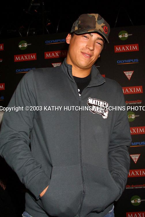 "©2003 KATHY HUTCHINS / HUTCHINS PHOTO AGENCY.MAXIM'S ""HOT 100"" PARTY.LOS ANGELES, CA.JUNE 11, 2003..ANDREW KEEGAN"