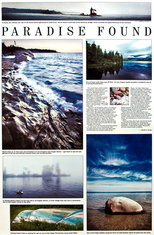 A summer trip through the Upper Peninsula of Michigan along Lake Superior.<br /> Words and photographs by Mark Sluder