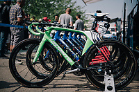 Arnaud D&eacute;mare's (FRA/FDJ) green (jersey) bike ready for the stage<br /> <br /> 104th Tour de France 2017<br /> Stage 7 - Troyes &rsaquo; Nuits-Saint-Georges (214km)
