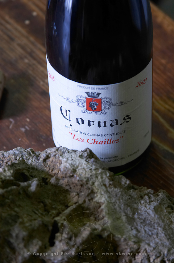 les chailles with chailles rock sample dom a voge cornas rhone france