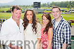John O'Leary, Mary O'Sullivan, Regina Dalton and Alan O'Brien Killarney at the Killarney Races on Sunday