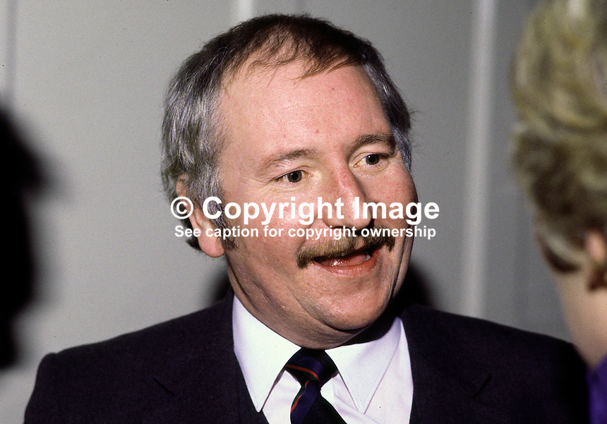 John Trew, Journalist, Belfast, N Ireland, UK. Ref: 198501005...Copyright Image from Victor Patterson, 54 Dorchester Park, Belfast, UK, BT9 6RJ..Tel: +44 28 9066 1296.Mob: +44 7802 353836.Voicemail +44 20 8816 7153.Skype: victorpattersonbelfast.Email: victorpatterson@mac.com.Email: victorpatterson@ireland.com (back-up)..IMPORTANT: If you wish to use this image or any other of my images please go to www.victorpatterson.com and click on the Terms & Conditions. Then contact me by email or phone with the reference number(s) of the image(s) concerned.