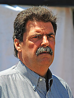 May 30, 2008; Dover, DE, USA; Nascar Sprint Cup Series president Mike Helton during practice for the Best Buy 400 at the Dover International Speedway. Mandatory Credit: Mark J. Rebilas-US PRESSWIRE