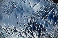 Aerial view of the glaciers that hang over the Cerro Tronador Volcano. Bariloche, Río Negro, Argentina, Wednesday, May 09, 2007.