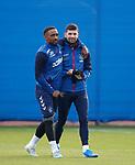 22.11.2019 Rangers training: Jermain Defoe and Jordan Jones