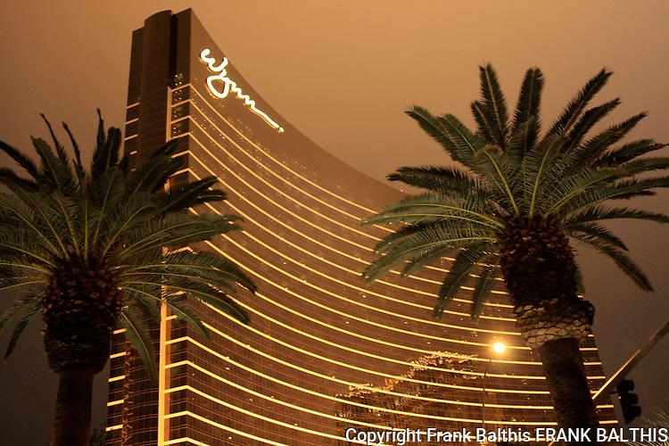 Palm trees and Wynn Resort in Las Vegas