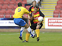 01/09/2007       Copyright Pic: James Stewart.File Name : sct_jspa13_partick_v_hamilton.DAVID ELEBERT AND SCOTT CHAPLAIN CHALLENGE.James Stewart Photo Agency 19 Carronlea Drive, Falkirk. FK2 8DN      Vat Reg No. 607 6932 25.Office     : +44 (0)1324 570906     .Mobile   : +44 (0)7721 416997.Fax         : +44 (0)1324 570906.E-mail  :  jim@jspa.co.uk.If you require further information then contact Jim Stewart on any of the numbers above........
