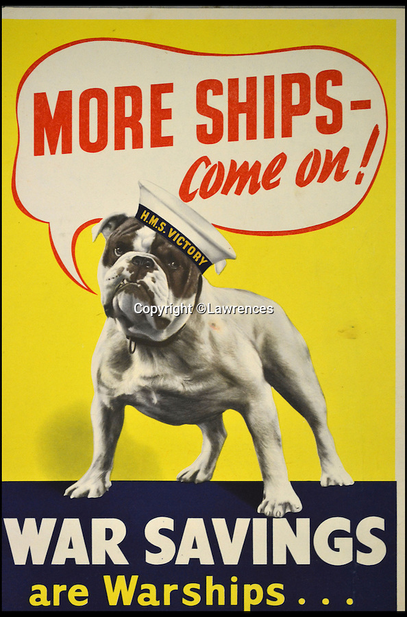 BNPS.co.uk (01202 558833)<br /> Pic: Lawrences/BNPS<br /> <br /> ***Please use full byline*** <br /> <br /> A set of more than 250 immaculate World War II posters are set to sell for £20,000 after they were discovered folded up in a chest of drawers.<br /> <br /> It is thought the posters were packed away following the end of war in 1945 - and they have not been touched since.<br /> <br /> The remarkable archive was only discovered when the seller, from London, decided to clear out his garage and stumbled across the posters.<br /> <br /> The collection is tipped to fetch £20,000 when it goes under the hammer at auction house Lawrences in Bletchley, Surrey.