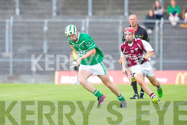 Ballyduff's Padraig Boyle and Causeway's Keith Carmody in action at Austin Stack park, Tralee on Saturday.