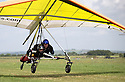 01/07/15<br /> <br /> Injured veteran is towed up for tandem hanglider flight.<br /> <br /> *** FULL STORY HERE: <br /> http://www.fstoppress.com/articles/flying-for-heroes/  ***<br /> <br /> A special aircraft adapted to be flown by wounded, injured and sick servicemen took to the skies for the first time above Britain today.<br /> <br /> The two-seater para-trike is one of three similar aircraft operated by Flying For Heroes that are currently based at Darley Moor Airfield, Ashbourne, Derbyshire.<br /> <br /> Ten wounded servicemen took to the controls of this, and many other aircraft, during a two-day flying training camp hosted by Airways Airsports.<br /> <br /> *** FULL STORY HERE:  http://www.fstoppress.com/articles/flying-for-heroes/  ***<br /> <br /> All Rights Reserved: F Stop Press Ltd. +44(0)1335 418629   www.fstoppress.com.