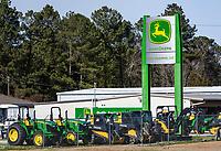 John Deere equipment dealership, Jacksonville, North Carolina, USA.