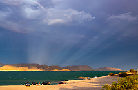 Lake Pleasant, storm, storm chasing, storm chaser, Arizona, weather, clouds, desert, mountains, rain, monsoon, anti crepuscular rays, light rays