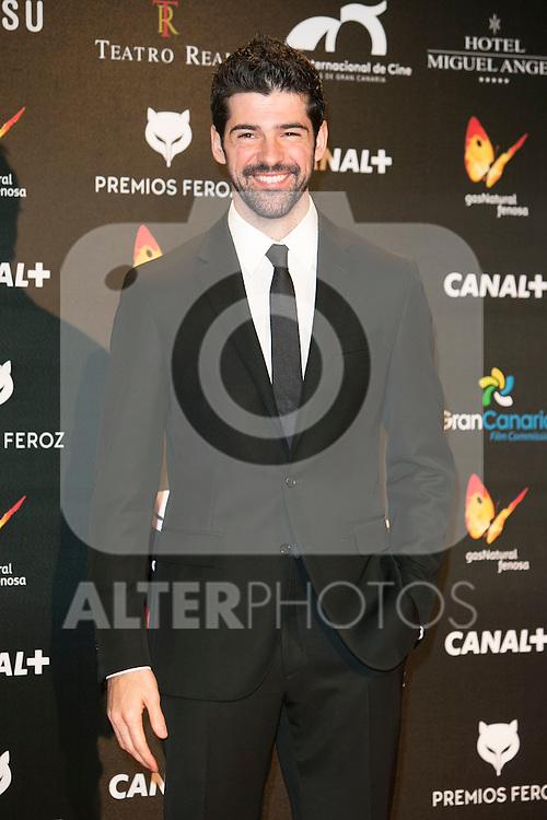 Miguel Angel Munoz attends the Feroz Cinema Awards 2015 at Las Ventas, Madrid,  Spain. January 25, 2015.(ALTERPHOTOS/)Carlos Dafonte)