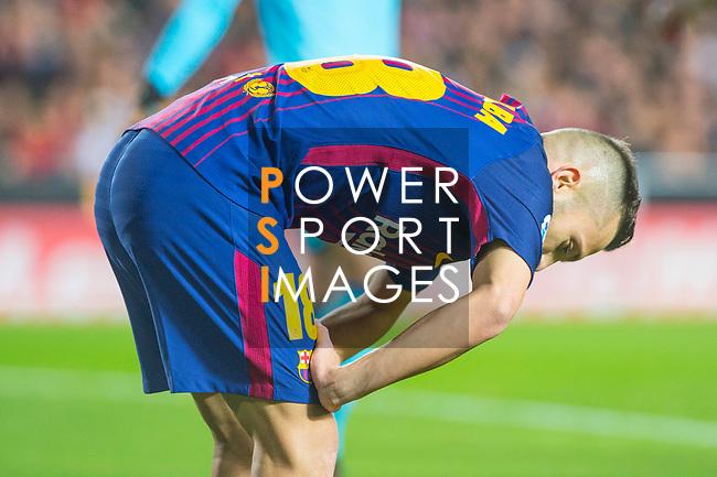 Jordi Alba Ramos of FC Barcelona is seen during the La Liga 2017-18 match between Valencia CF and FC Barcelona at Estadio de Mestalla on November 26 2017 in Valencia, Spain. Photo by Maria Jose Segovia Carmona / Power Sport Images