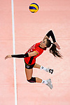25.08.2018, …VB Arena, Bremen<br />Volleyball, LŠnderspiel / Laenderspiel, Deutschland vs. Niederlande<br /><br />Angriff Lena Stigrot (#10 GER)<br /><br />  Foto &copy; nordphoto / Kurth