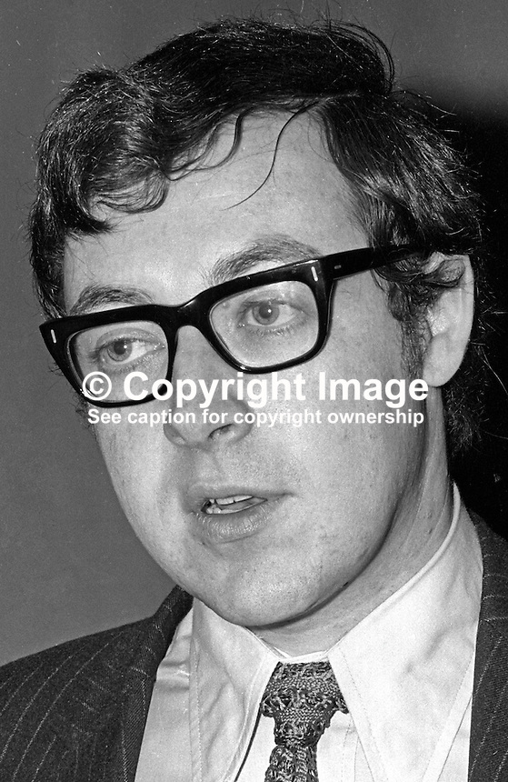 Rory McShane, prominent member, N Ireland Civil Rights Associatiion, solicitor, Newry, Co Down, N Ireland. 197202000055RMS2<br />