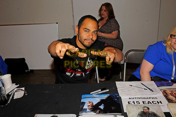 LONDON, ENGLAND - JULY 13: Jose Pablo Cantillo attending London Film and Comic Con 2014 at Earls Court on July 13, 2014 in London, England.<br /> CAP/MAR<br /> &copy; Martin Harris/Capital Pictures