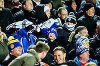 Leeds United fan celebrate after their side took the lead<br /> <br /> Photographer Alex Dodd/CameraSport<br /> <br /> The EFL Sky Bet Championship - Leeds United v Queens Park Rangers - Saturday 8th December 2018 - Elland Road - Leeds<br /> <br /> World Copyright &copy; 2018 CameraSport. All rights reserved. 43 Linden Ave. Countesthorpe. Leicester. England. LE8 5PG - Tel: +44 (0) 116 277 4147 - admin@camerasport.com - www.camerasport.com