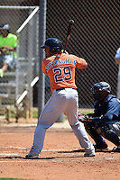 Houston Astros Jacob Nottingham (29) during a minor league spring training game against the Atlanta Braves on March 29, 2015 at the Osceola County Stadium Complex in Kissimmee, Florida.  (Mike Janes/Four Seam Images)