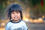 Two-year old Maria Nela Erasto, a Wichi indigenous girl in Santa Victoria Este, Argentina. The Wichi in this area have struggled for decades to recover land that has been systematically stolen from them by cattleraisers and large agricultural plantations.