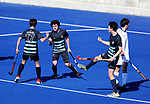 King's High School v Timaru Boys High. Rankin Cup and India Shield 2019 Secondary School Hockey Tournament, Nga Puna Wai Sports Hub, Christchurch, Saturday 07 September 2019. Photo: Martin Hunter/Hockey NZ