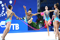 September 2, 2017 - Pesaro, Italy - USA group performs ball+rope routine at 2017 World Championships Pesaro, Italy.