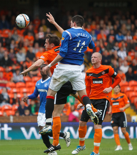 Kyle Lafferty rises to score for Rangers