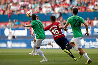 Unai Garcia (defender; CA Osasuna) during the Spanish <br /> la League soccer match between CA Osasuna and Almeria at Sadar stadium, in Pamplona, Spain, on Saturday, <br /> September 8, 2018.