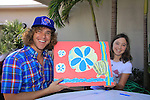 Frank Eudy - Big Brother 14 paints with Morgan at SoapFest's Celebrity Weekend - Art for Autism when the actors & kids make paintings for auction to benefit Autism on November 10, 2012 Marco Island, Florida. For info www.autism-society.org or www.autismspeaks.org. (Photo by Sue Coflin/Max Photos)