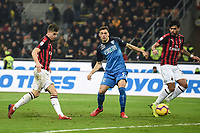 Krzysztof Piatek of AC Milan scores goal of 1-0 <br /> Milano 22-02-2019 Stadio Giuseppe Meazza in an Siro Football Serie A 2018/2019 AC Milan - Empoli <br /> Foto Image Sport / Insidefoto