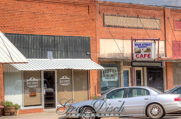 Main Street Bakery and Cafe in downtown Erick Oklahoma on Route 66.