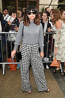 Foxes<br /> arrives for the TopShop UNIQUE catwalk show as part of London Fashion Week SS17, Old Spitalfields Market, London<br /> <br /> <br /> &copy;Ash Knotek  D3155  17/09/2016