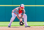 5 March 2015: Washington Nationals shortstop Ian Desmond fields grounders prior to a Spring Training game against the New York Mets at Space Coast Stadium in Viera, Florida. The Nationals rallied to defeat the Mets 5-4 in Grapefruit League play. Mandatory Credit: Ed Wolfstein Photo *** RAW (NEF) Image File Available ***