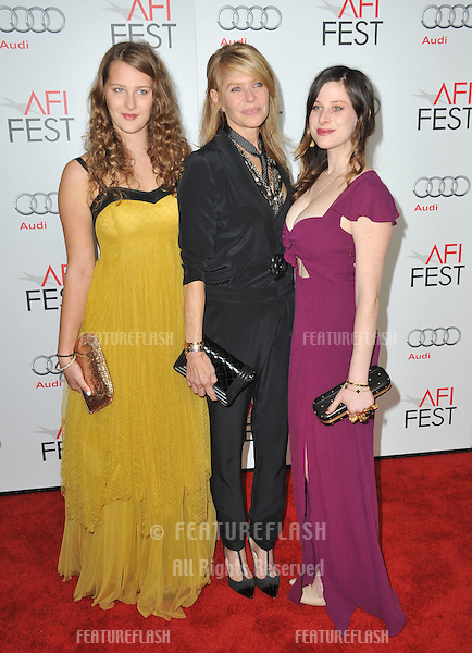 """Kate Capshaw & daughters Sasha (right) & Destry Allyn Spielberg at the AFI Fest premiere of """"Lincoln"""" at Grauman's Chinese Theatre, Hollywood..November 8, 2012  Los Angeles, CA.Picture: Paul Smith / Featureflash"""