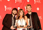 Dave Haywood, Hillary Scott and Charles Kelley  of Lady Antebellum at the 2008 ACM Awards at MGM Grand in Las Vegas, May 18 2008.
