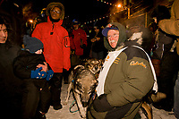 Musher Jeff King finishes in second place during the 2008 All Alaska Sweepstakes on Front Street in Nome with a time of  61:39:05