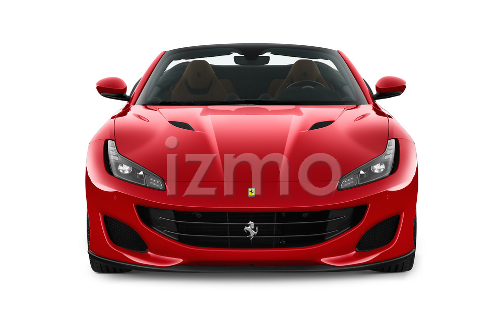 Car photography straight front view of a 2018 Ferrari Portofino base 2 Door Convertible