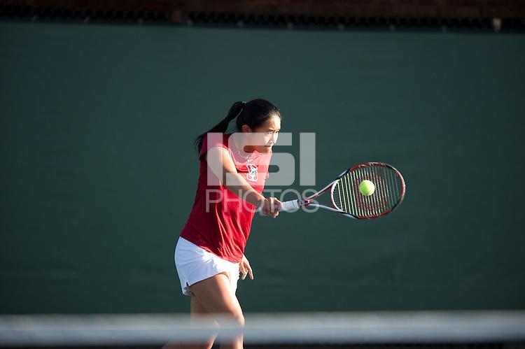Jennifer Yen of the 2010 Stanford women's Tennis Team.