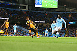 Wilfried Bony of Manchester City scores the opening goal - Manchester City vs Hull City - Capital One Cup - Etihad Stadium - Manchester - 29/12/2015 Pic Philip Oldham/SportImage
