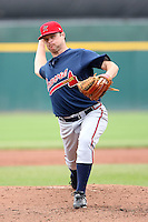 July 20th 2008:  Pitcher Brian Lawrence of the Richmond Braves, Class-AAA affiliate of the Atlanta Braves, during a game at Dunn Tire Park in Buffalo, NY.  Photo by:  Mike Janes/Four Seam Images
