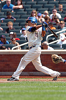 New York Mets infielder Ruben Tejada #11 during a game against the Milwakee Brewers at Citi Field on August 21, 2011 in Queens, NY.  Brewers defeated Mets 6-2.  Tomasso DeRosa/Four Seam Images