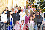 Canon Denis O'Mahony with family members at his retirement mass in St Stephens and Johns church Castleisland on Friday evening front row l-r: Sophie O'Donoghue, Emily O'Donoghue, Isabelle O'Donoghue. Second row: Carmel, Denise, Tony O'Mahony, Canon Denis O'Mahony, Kathleen O'Donoghue, Kaoru Sanoh, Catherine O'Mahony, Third row: Ger O'Donoghue, John O'Mahony, William O'Donoghue. Back row: Letitia Stepenske, Michael O'Donoghue, Trish O'Donoghue, Tommy O'Donoghue, James O'Donoghue, and Janice O'Donoghue .   Copyright Kerry's Eye 2008