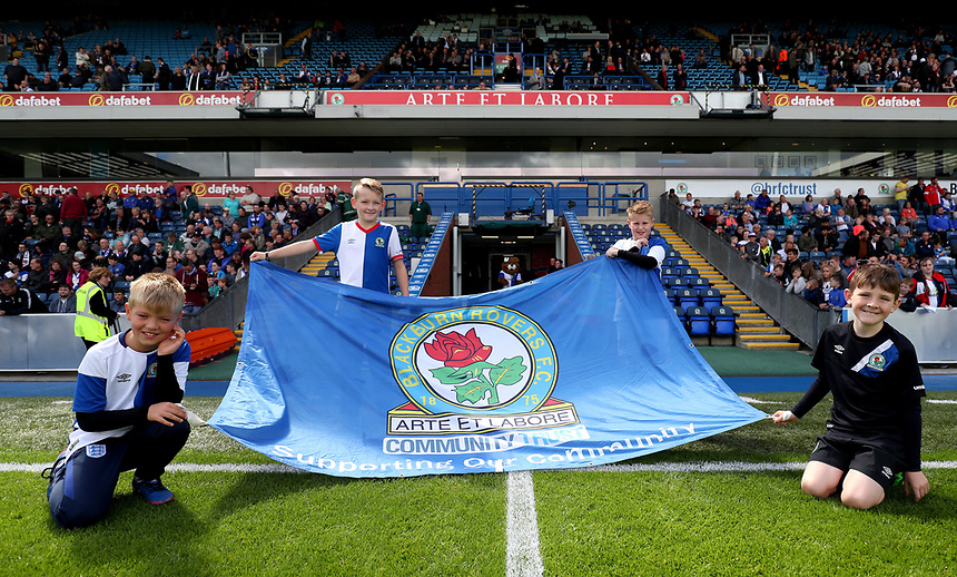 Blackburn Rovers Flag <br /> <br /> Photographer Rachel Holborn/CameraSport<br /> <br /> The EFL Sky Bet League One - Blackburn Rovers v Doncaster Rovers - Saturday August 12th 2017 - Ewood Park - Blackburn<br /> <br /> World Copyright &copy; 2017 CameraSport. All rights reserved. 43 Linden Ave. Countesthorpe. Leicester. England. LE8 5PG - Tel: +44 (0) 116 277 4147 - admin@camerasport.com - www.camerasport.com