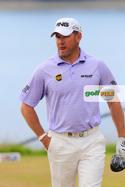 LEE WESTWOOD (ENG) walks off the 16th tee during Thursday's Round 1 of the 2015 U.S. Open 115th National Championship held at Chambers Bay, Seattle, Washington, USA. 6/18/2015.<br /> Picture: Golffile | Eoin Clarke<br /> <br /> <br /> <br /> <br /> All photo usage must carry mandatory copyright credit (&copy; Golffile | Eoin Clarke)