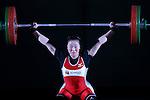 Mikiko Ando, <br /> MAY 22, 2016 - Weightlifting : <br /> All Japan Weightlifting Championship 2016 Women's -58kg <br /> at Yamanashi Municipal Gymnasium, Yamanashi, Japan. <br /> (Photo by AFLO SPORT)