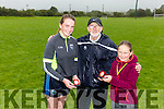 l-r  Sarah Kennedy, 1st place in Shot Put U16's Girls, Jerome Crowley, Chairman of the Farranfore Maine Valley Athletic Club and Louise Kennedy, 1st place in Shot Put U12's Girls. at the Annual Open Sports Day on Sunday at Firies GAA Club  in Farranfore