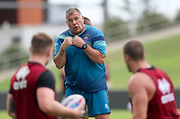 Picture by David Neilson/SWpix.com/PhotosportNZ - 09/02/2018 - Rugby League - Betfred Super League - Wigan Warriors v Hull FC - Captain's Run - WIN Stadium, Wollongong, Australia - Shaun Wane with his players during the captain's run.