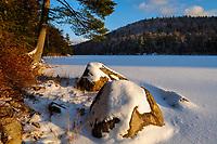 Jockeybush Lake At Sunset, Ferris Lake Wild Forest Area, Adirondack Forest Preserve, New York
