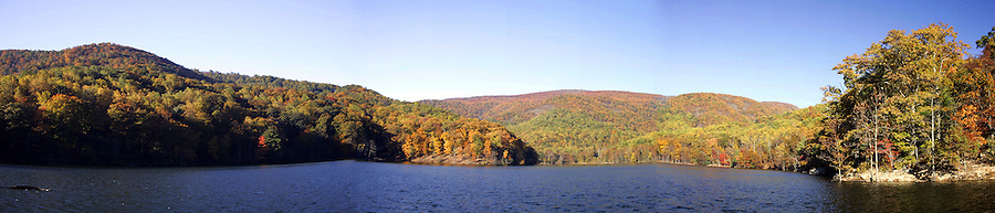 fall colors beaver creek dam reservoir